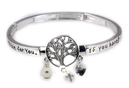 4030863 Mustard Seed Faith Stretch Bracelet Christian Religous - Jewelry Bracelet Stretch Silver Christian