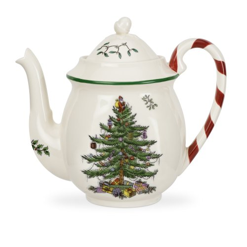 Spode Christmas Tree Candy Cane Teapot
