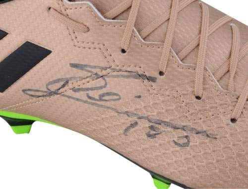 Lionel Messi Barcelona Autographed Gold Adidas 16.3 Cleat Fanatics Authentic Certified Autographed Soccer Cleats