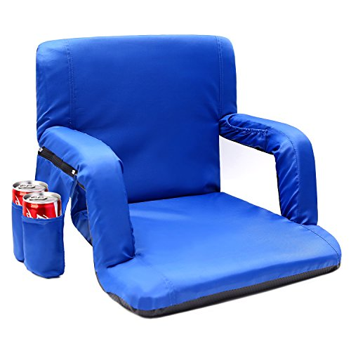 Sportneer Stadium Seats for Bleachers Portable Chair Seat with Backs and Cushion, Detachable Pocket and Shoulder (Kings Team Watch)