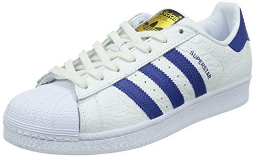 adidas Superstar Animal, Scarpe da Basket Uomo Bianco (White (Ftwr White/Collegiate Royal/Gold Met.))
