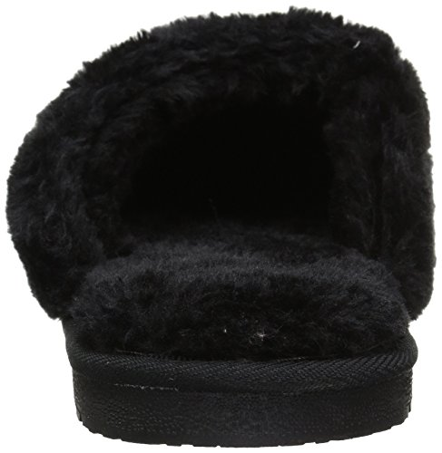 Womens Hounds Scuffs Frosted Womens Black Slippers Foam Hounds Memory qwOwUC