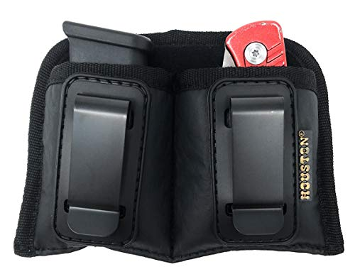 Concealment Magazine and Multi Use Holster IWB Clip Fits Most Double Stack 9mm / .40 Cal. for Compact Sizes Like Glock 26/27, Sig P365 (Double Medium Compact Double Stack 9mm /.40 Cal)