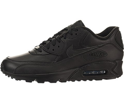 Nike Air Max 90 Leather Men Lifestyle Casual - All Black Air Max 90