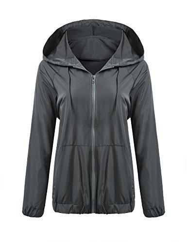 Zeagoo Womens Rainwear Active Outdoor Hooded Cycling Packable and Lightweight Jacket ()