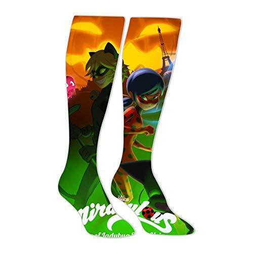 Mir-aculous Halloween Special Unisex High Knee Socks 3D Soft Long Stockings Thigh Socks for Men Women Running]()
