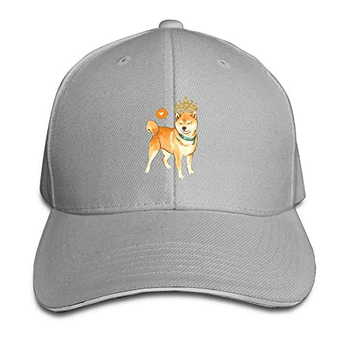 Shiba Inu Heart with Crown Baseball Cap Adjustable Hip Hop Cap Black (Ashes Of American Flags Dvd)