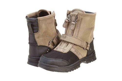 Polo By Ralph Lauren Conquest Hi II Boot (Toddler/Little Kid/Big Kid),Black Nubuck-Charcoal Leather,2.5 M US Little - Ralph Mens Cheap For Lauren