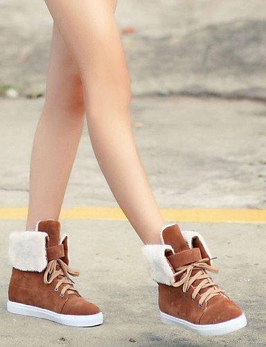 Uk7 Casual Marrón 5 Mujer 7 Zapatos 10 Brown Redonda Punta Moda us9 8 Uk7 Tacón 5 Brown Vestido De A Eu41 Cuña Vellón Botas Cn42 Xzz 5 Cn37 5 5 Uk4 us6 Beige Negro La Eu37 FAnW7ZA