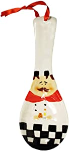 Fat Chef Kitchen Accessories French Chef Decor for Kitchen Home Bakery Restaurant (Spoon Rest)