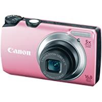 Canon PowerShot A3300 IS 16.0 MP with 5x Wide-Angle Optical Zoom (Pink) Basic Facts Review Image