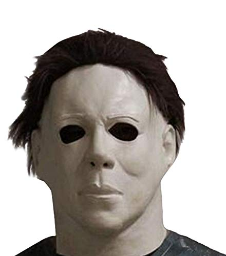 HAOCOS Adult Horror Movie Cosplay Props Michael Myers Latex Full Head Mask]()