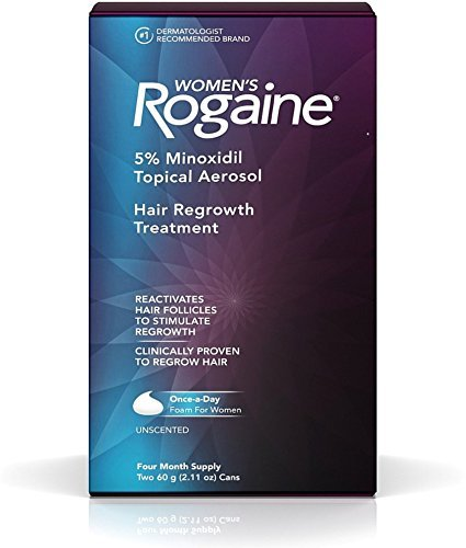 Rogaine Women's Hair Regrowth Treatment, 4 Month Supply, 2.11 oz cans, 2 ea (Pack of 3)