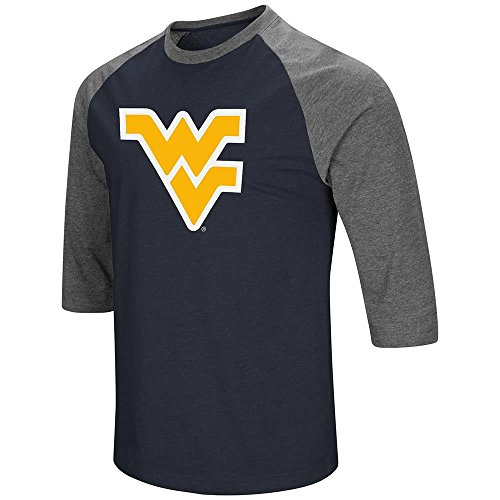 Colosseum Mens West Virginia Mountaineers 3/4 Sleeve Raglan Tee Shirt - L