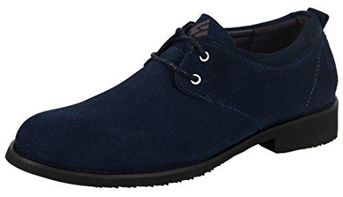 iLoveSIA Men's Classic Lace Oxford Suede Leather Shoe Dark Blue US Size (Men Dress Shoes)