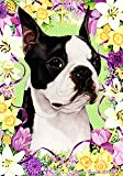 "Boston Terrier by Tamara Burnett Easter Flowers Garden Dog Breed Flag 12"" x 18"" Review"