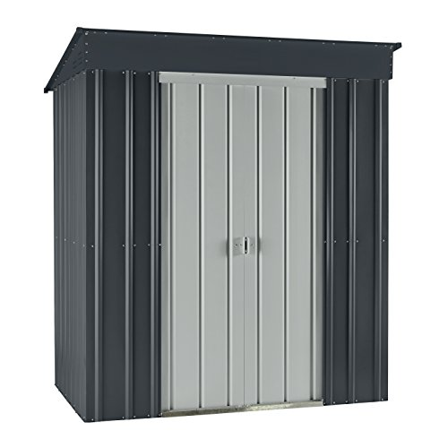 Globel GL6000 6'x4' Skillion Metal Storage Shed, 6' x 4' , Slate Gray by Globel