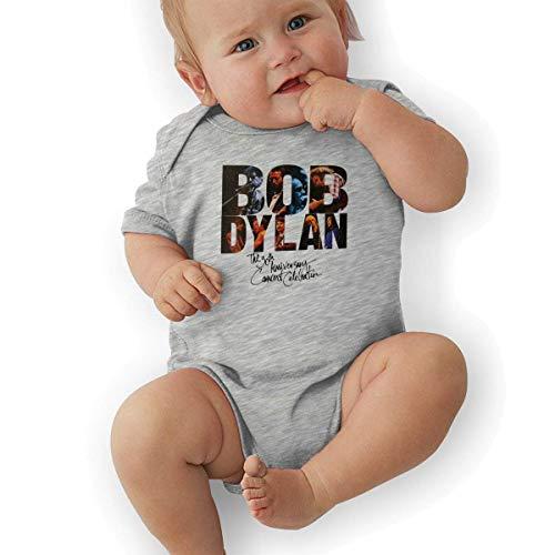 TCJX Newborn Baby Bob Dylan- The 30th Anniversary Concert Celebration Onesies Bodysuit Gray