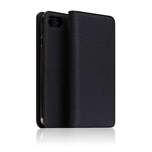 - [BONAVENTURA] German Shrunken Calf Leather 2 Tone Diary Case for iPhone 8/7 I Luxury Fashion Flip Folio Book Case Wallet Cover with Feature Card Slots Compatible with iPhone 8/7 (Black/Red)