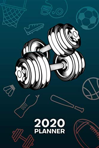 2020 PLANNER Weekly and Monthly: Bodybuilder Organizer – Jan-Dec 160 Pages A5 6×9 – Hobby Athlete Diary Bicepscurls Journal Notebook Fitnessclub Calendar – Weight Training Gift for Men & Women