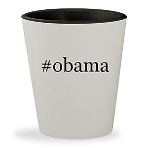 #obama - Hashtag White Outer & Black Inner Ceramic 1.5oz Shot Glass
