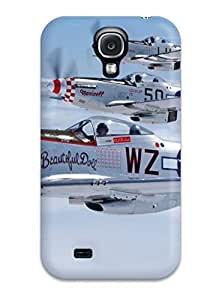 Fashion ERBAhQA7875kmUtS Case Cover For Galaxy S4(mustang Planes)