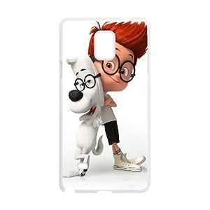 Sr. Peabody y Sherman Samsung Galaxy Note caja del teléfono celular 4 funda blanca del teléfono celular Funda Cubierta EEECBCAAL70902