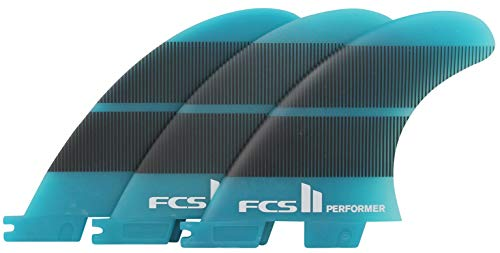 FCS II Performer Neo Glass Tri Fin Set - Blue Gradient - Large
