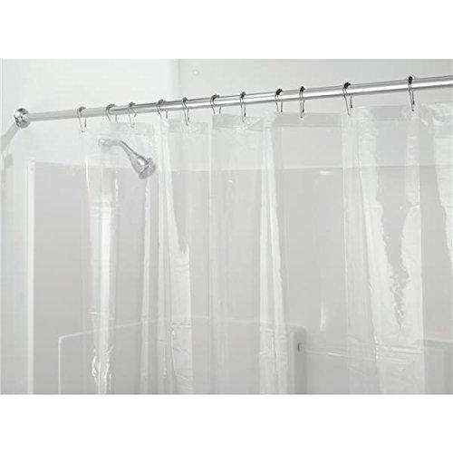 InterDesign PEVA 3 Gauge Shower Curtain Liner - Mold/Mildew Resistant, PVC Free  Clear, 72 x 72