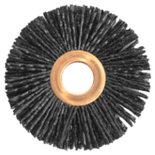 3'' Diameter - Small Diameter Wheel Brush - 0.035''/80 Grit - 1/2'' Arbor (Pack of 5)