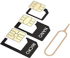 Amazon.com: Juego de adaptadores Nano-SIM para Nano-SIM a ...