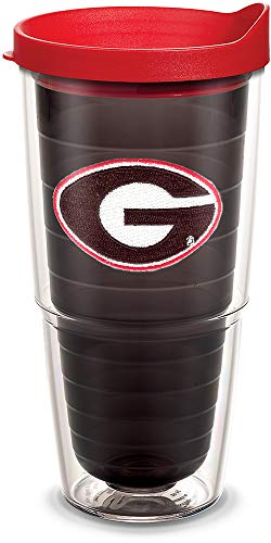 ia Bulldogs Logo Tumbler with Emblem and Red Lid 24oz, Quartz ()