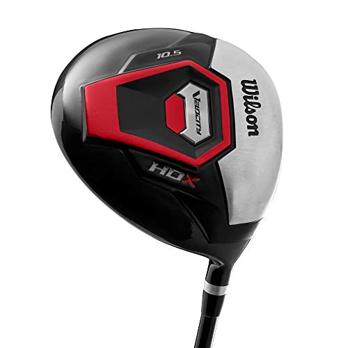 (Wilson Right Handed Velocity HDX Mens Graphite Shaft Driver Golf Club, Black)