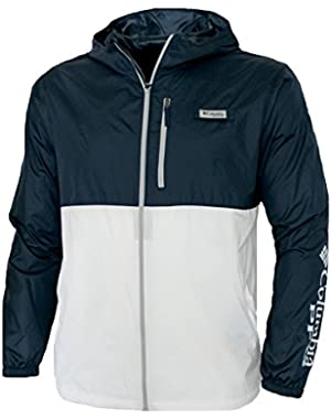 Men's PFG Morning View Omni Shade UPF 40 Hooded Full Zip Jacket Navy/White