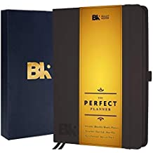 Bullet Keeper Planner - Best Undated Notebook Journal Agenda Organizer to Achieve Goals & Increase Productivity - Non-Dated Full Year Weekly & Monthly Flexible Structures - Black Hardcover (A5)