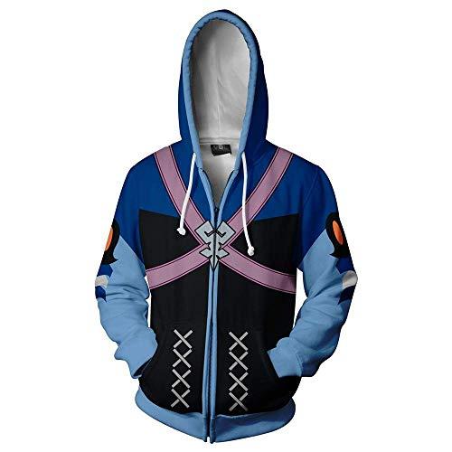 Anime Cartoon Hoodie Hot Game Cosplay 3D Print Zip Up Jacket Coat Hooded Outwear ()