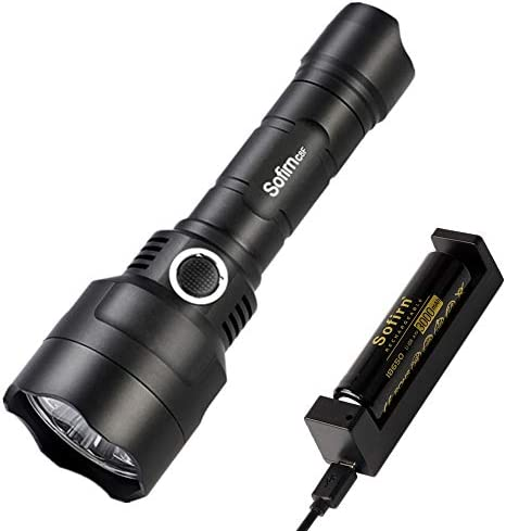 Flashlight kit, China, Black : Sofirn C8F Battery Kit Triple Reflector LED Flashlight 18650 Powerful 2580lm Cree XPL Flash Light LED Torch Lantern