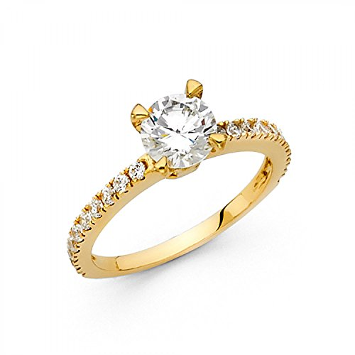 Solid 14k White or Yellow Gold