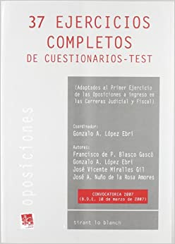 37 EJERCICIOS COMPLETOS DE CUESTIONARIOS-TEST.
