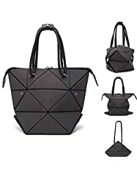 Moda geométrica cambiable forma bolso luminoso mujer bolso de mano superior