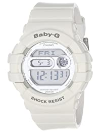 Casio BGD141-7 Women's Baby-G Grey LCD Dial White Resin Strap World Time Dive Watch