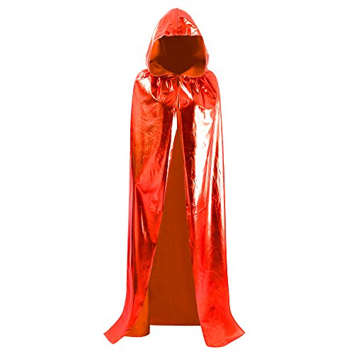 Fancy Dress Magic (Halloween Christmas Magic Devil Long Vampire Hooded Cloak Fancy Dress Costume Cape 59