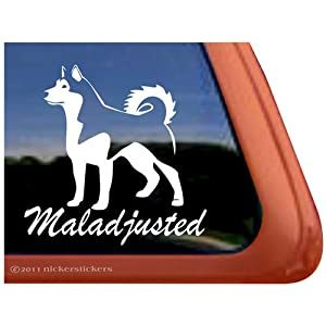 Maladjusted Alaskan Malamute Vinyl Window Decal Sticker 25
