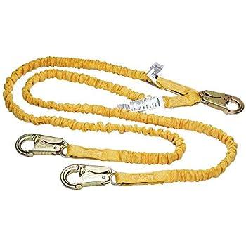 Energy Absorbing Inner Core, Snap Hook, Rebar Hook 1per Pack Werner C451200 6-Foot Softcoil Twinleg Lanyard