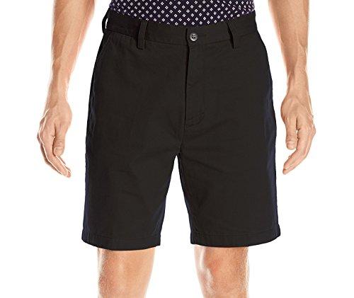 Nautica Sportswear Mens Flat Front (Nautica Men's Flat Front Deck Short,True Black,32)