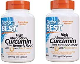 Doctor's Best Curcumin from Turmeric Root, Non-GMO, Gluten Free, Soy Free, Joint Support, 500mg Caps with C3 Complex & BioPerine