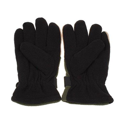Franterd Mens Winter Windproof Motorcycle Ski Gloves (Green) by Franterd (Image #1)