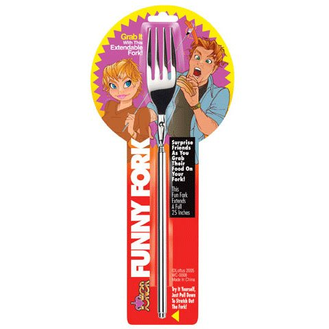 Funny Fork - Telescopic Table Ware, Extendable to 25