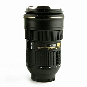 Lens Coffee Cup/Camera Lens Mug(Creative cup design is simulation to Nikon  24-70mm lens / 1:1 Model Coffee Mug / STAINLESS STEEL INSIDE)