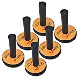 WINJUN 6 Pack Car Window Tinting Magnetic Tools Magnet Holder Gripper with Extra 6 pcs Replacement Fabric Pads for Vinyl Wraps Installation
